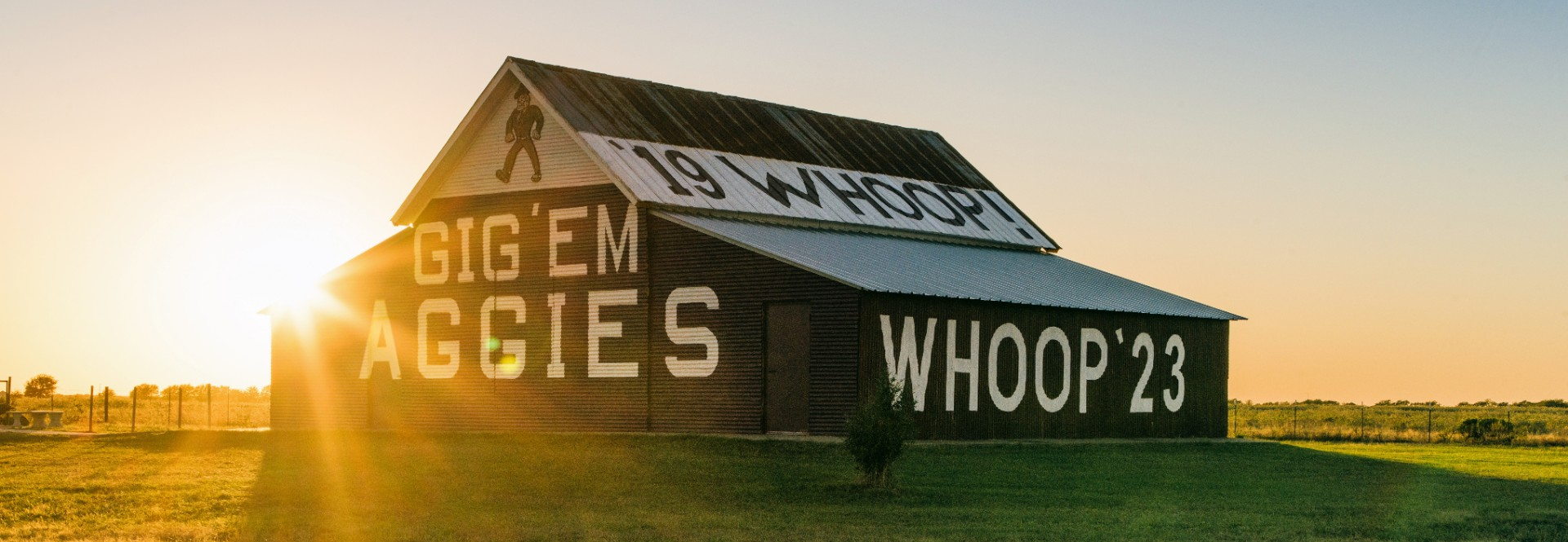 The Aggie Barn has served as the gateway to Aggieland for those driving south on Highway 6 since its first maroon and white makeover in 1980.