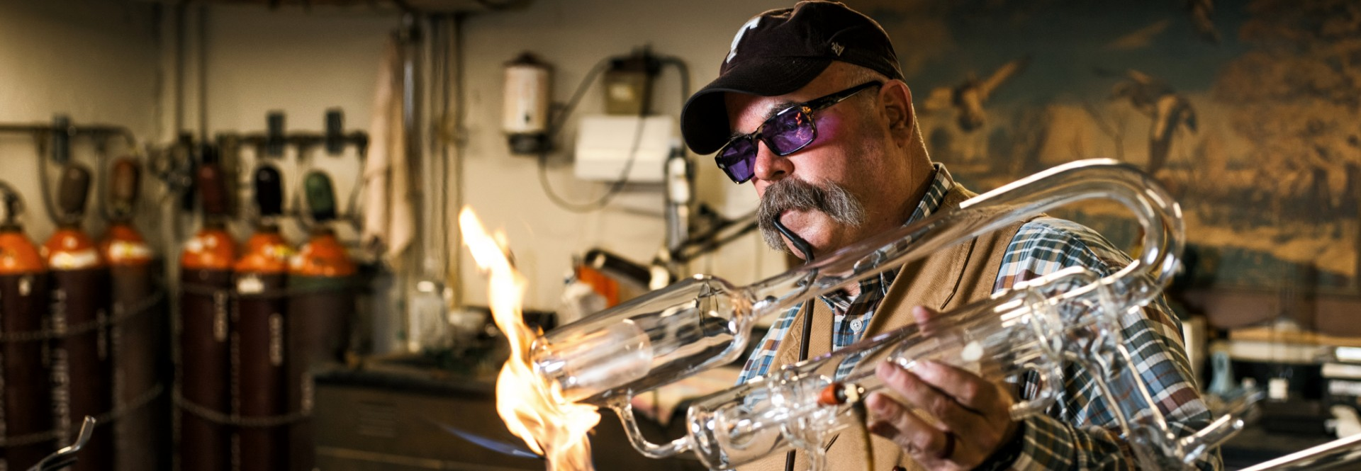 "William ""Bill"" Merka has been the university's go-to glassblower for more than three decades."